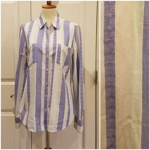 Merona Relaxed Stripe Button Down T3 C1